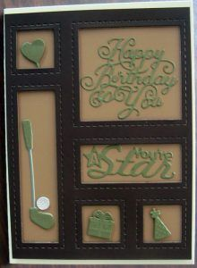 Shadow Box die using - You're a Star & Happy Birthday accessories