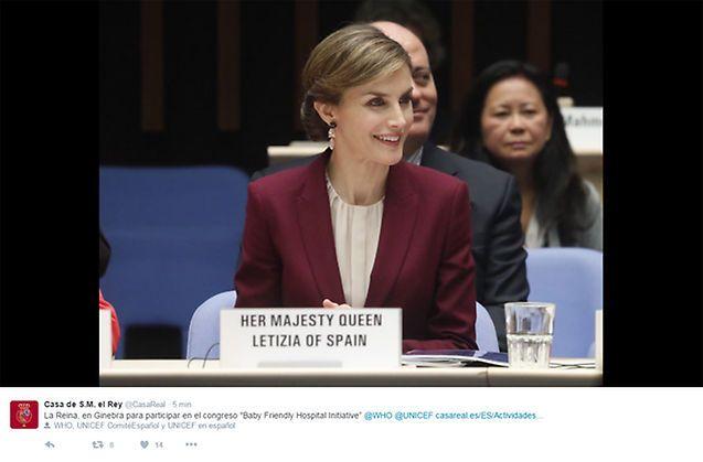 La Reina vuelve a Ginebra con la OMS para mostrar su apoyo a la lactancia materna - Foto 1
