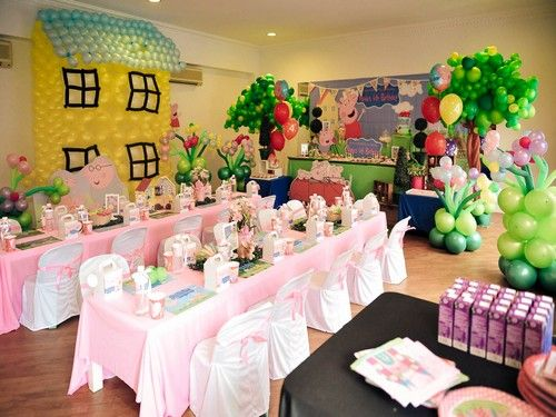 peppa pig birthday party centerpieces