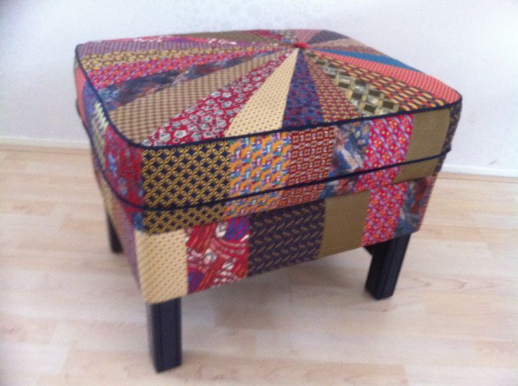 Poef Van Stropdassen Ottoman Sewing With Neckties
