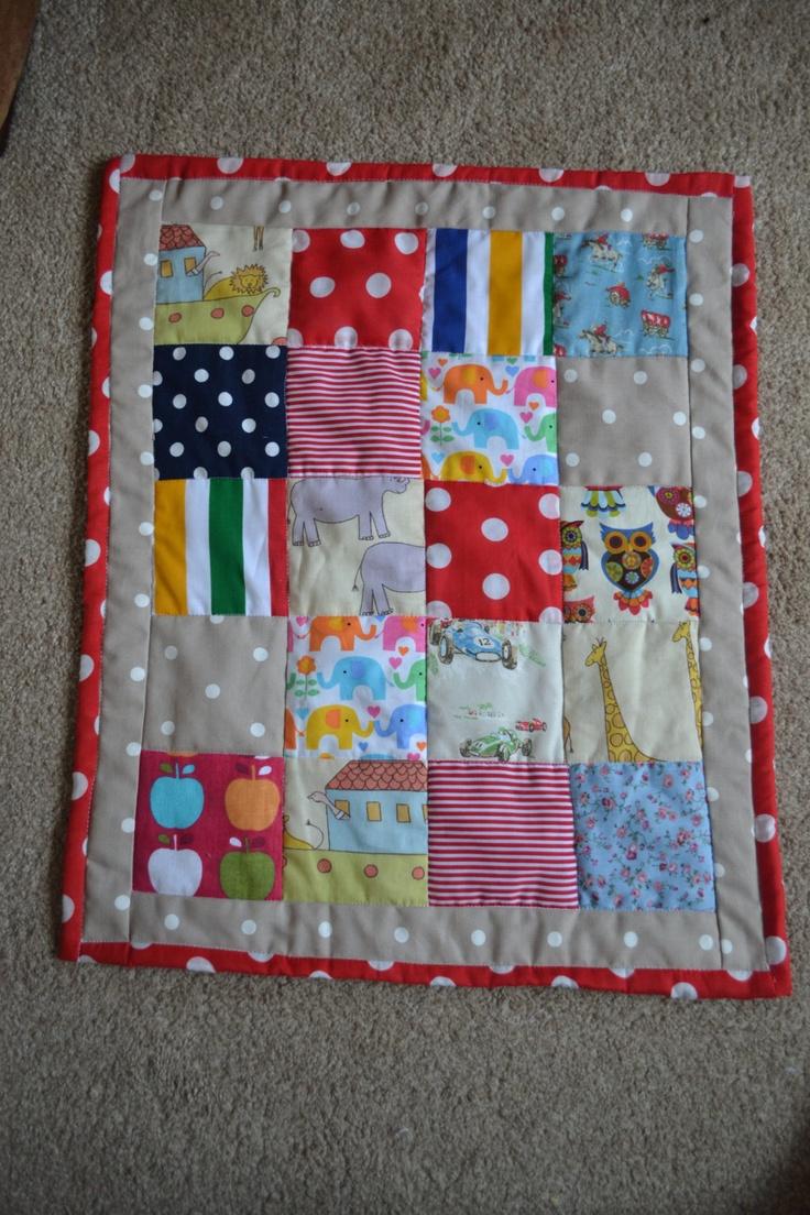 Patchwork, Unisex Baby, Pram Blanket. £35.00, via Etsy.