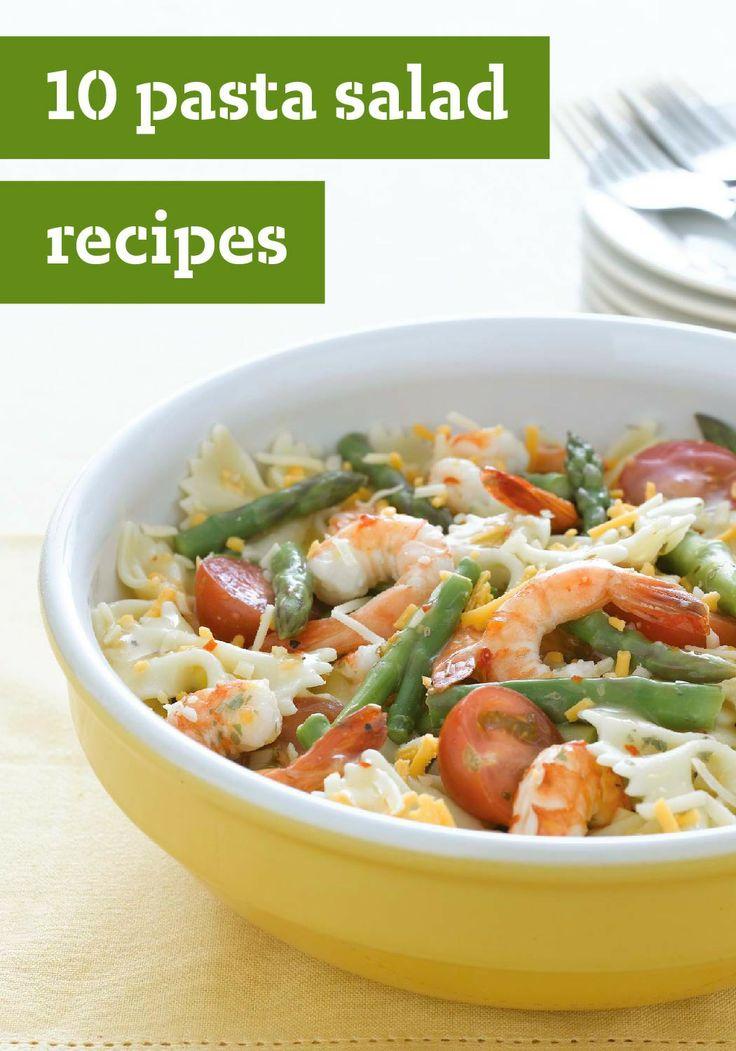 10 pasta salad recipes pizza bbq shrimp and bistro for Prawn and pasta salad recipes