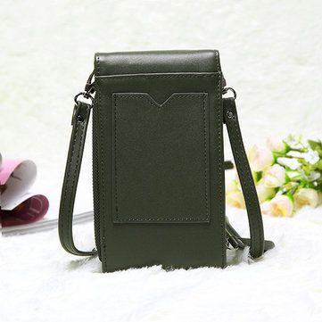 Vintage Mini Hasp Shoulder Bags Girl Casual Crossbody Bags 6.0'' Phone Case Bags - US$25.99
