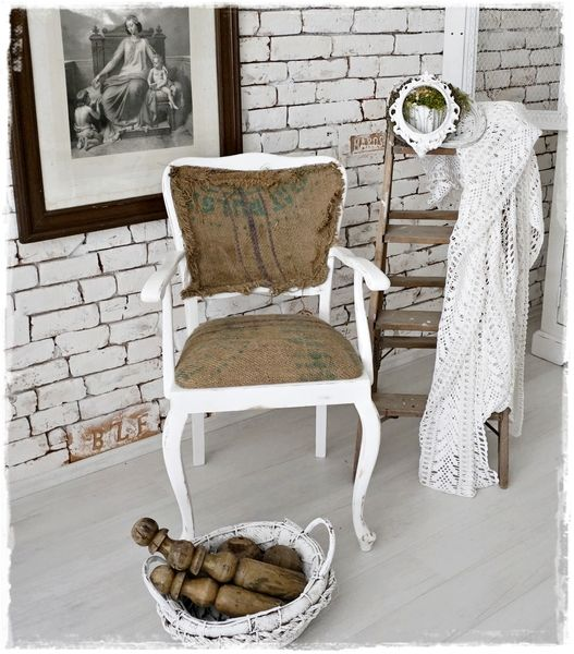 Shabby Chippendale Stuhl von ShabbyMaison auf DaWanda.com