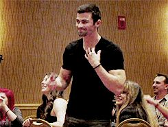 Matt Cohen takes off his shirt at a con...gif. This needs to be saved forever. In some kind of lock box. Like, if the world ends, this gif should be in the box we bury for later life to find.