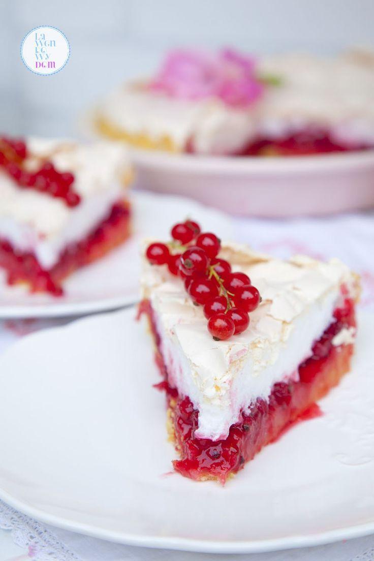 bezglutenowe ciasto z porzeczkami i bezą