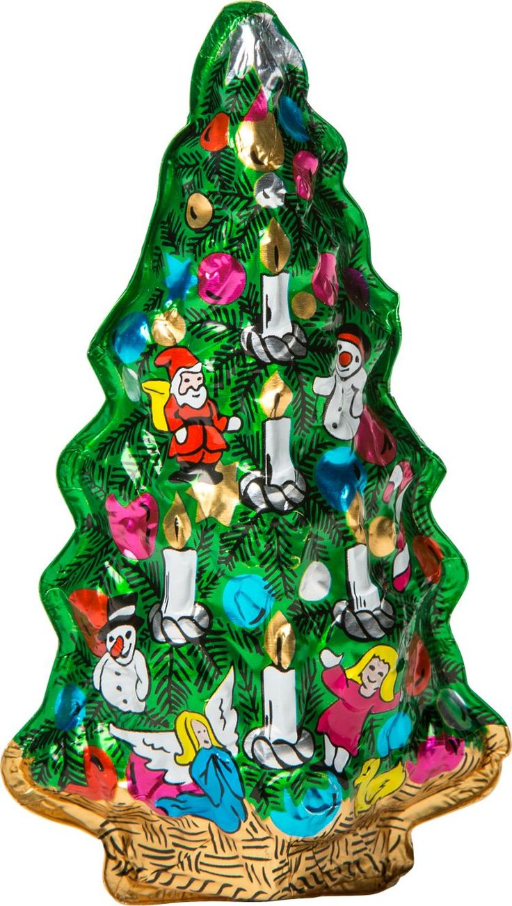 Asian christmas ornaments - Chocolate Foil Christmas Trees Made From Original Molds By A Family Owned Company Here