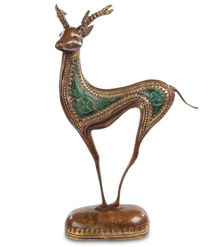 Фигурка «Олень» 43-113 (бронза, о. Бали)   Бренд: Perunggu & Emas Nasional (Индонезия);    Страна производства: Индонезия;   Материал: Бронза;   Длина: 23 см;   Ширина: 14 см;   Высота: 35 см;   Вес: 0,92 кг;          #statuette #figurine #bronze #Indonesia #статуэтка #фигурка #бронза #Индонезия