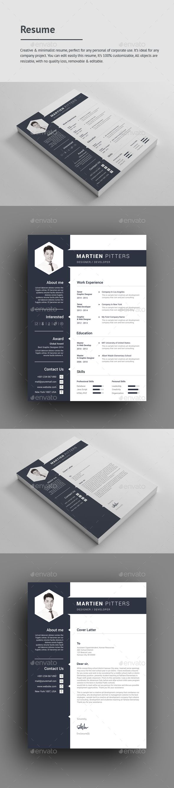 Resume File Information A4 Size print dimension with bleed + guidelines, well layered organised (PSD). Adobe CS3,CS4,CS5,CS6,CC+ versions of files oppen, CMYK , Print ready & fully editable, text/fonts/colors editable. Feature      Scalable     Easy To Customize     Easy To Change Colors     All Text Editable With Text Tool     A4 Size     Images not include