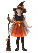 Костюм ведьмы на хэллоуин детский