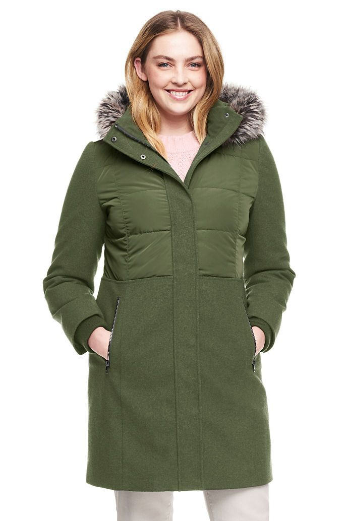 1080453a98 Women s Plus Size Hybrid Coat from Lands  End