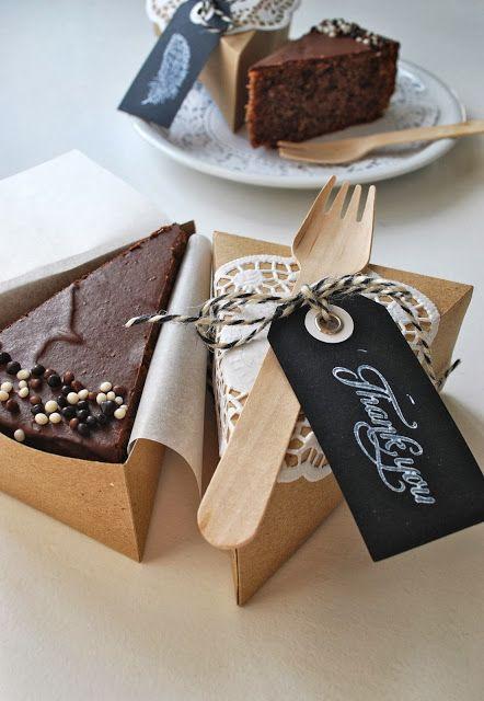 Kuchen in der Box inkl. Vorlage zum falten