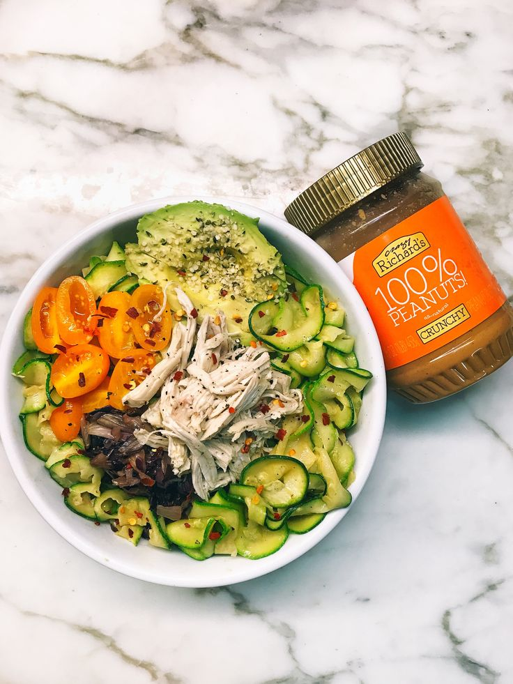 Peanut Butter Zoodle Chicken Salad | Crazy Richard's Peanut Butter Company