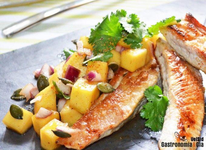 Receta de secreto de cerdo con mango y teriyaki