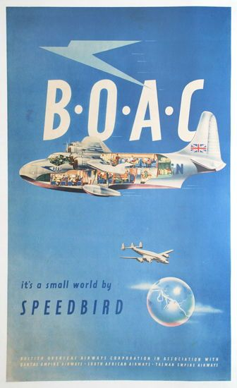 BOAC. It's A Small World By Speedbird, c1939
