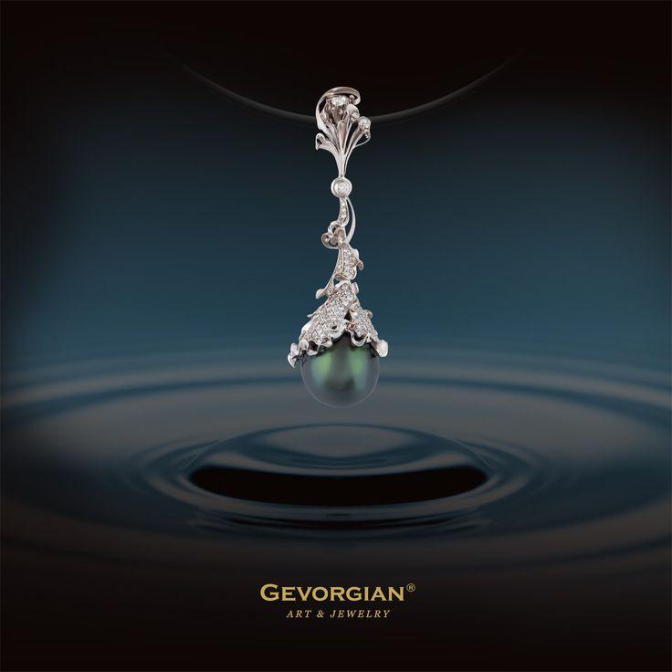 "Pendant ""Happy tears"" by Gevorgian. www.gevorgian.ru www.facebook.com/Gevorgian.jewelry"