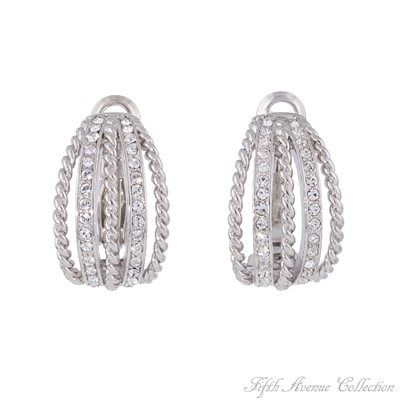 Rhodium Earring - Finesse Factor - Australia - Fifth Avenue Collection - Jewellery that changes the way you see fashion