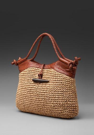 Foley and Corina Straw Bag at Revolve Clothing