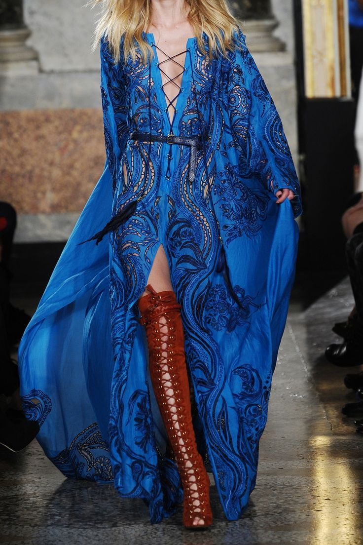 Emilio Pucci | Embroidered cotton and silk-blend maxi kaftan
