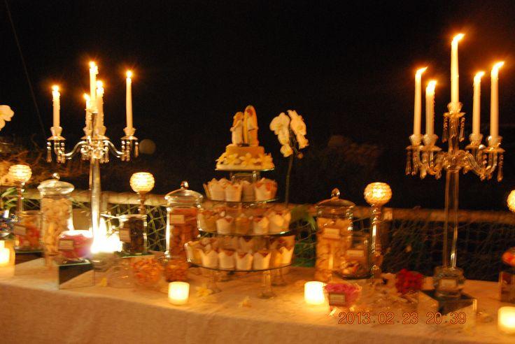 Beach Wedding Dessert Buffet
