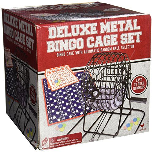 Deluxe Wire Cage Bingo Set styles will vary -- For more information, visit image link. Note:It is Affiliate Link to Amazon. #cool