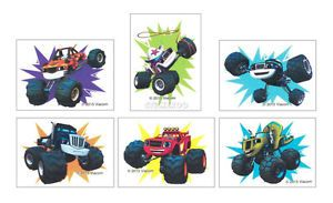 12 Blaze The Monster Machine Temporary Tattoo Kid Party Goody Bag Favor Supply | eBay