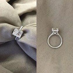Radiant Moissanite Engagement Ring