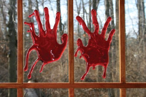 blood on window horror - Google Search