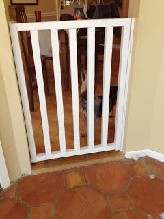 DIY wooden baby gate