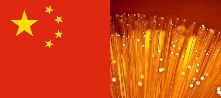 La Chine est un pays immense qui compte encore une forte population rurale. Un vaste plan de déploiement de la fibre optique a été lancé, et il semble porter ses fruits : aujourd'hui le réseau de fibre optique couvre plus de 4 villages ruraux sur 5.