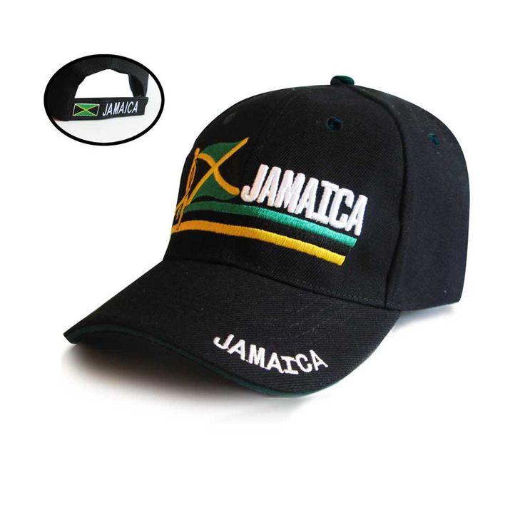 Roots Jamaica Flag Cap Hat Kingston Negril Montego Marley Usain Reggae Rasta 1sz