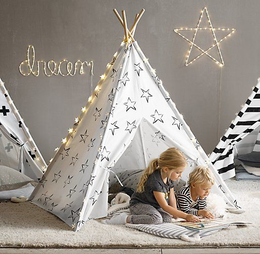 graphic printed teepee tents. perfectly proportioned for the littlest nomads. #rhbabyandchild