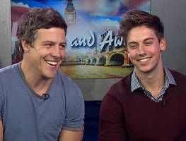 Home and Away hunks Steve Peacocke and Lincoln Younes join Larry and Kylie for a chat about their recent trip to London.