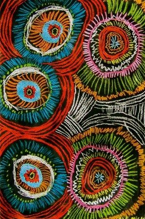 """lovin these! """"crayon resist splash"""" done by 4th. Do with oil pastel & India ink.."""