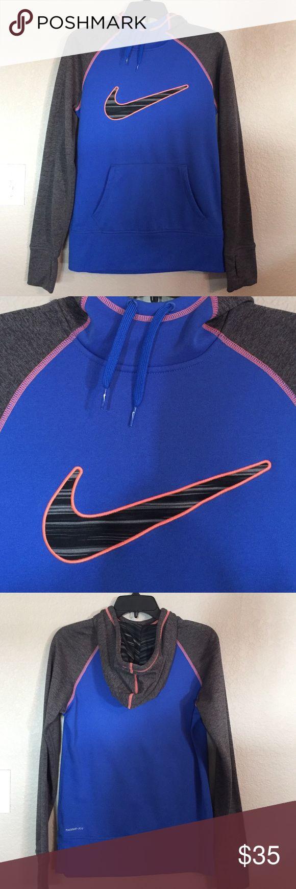 Nike Blue, Black, Gray, and Orange Hoodie Nike Blue, Black, Gray, and Orange Hoodie. Worn once or twice. I'm a Broncos fan, so this was perfect! Nike Tops Sweatshirts & Hoodies