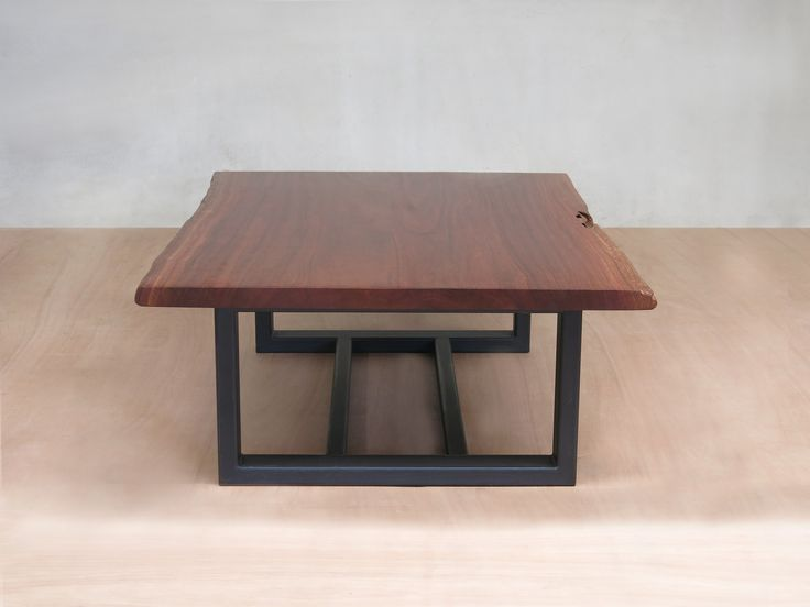 Live Edge Slab Coffee Table with Metal Legs - Rosita Walnut