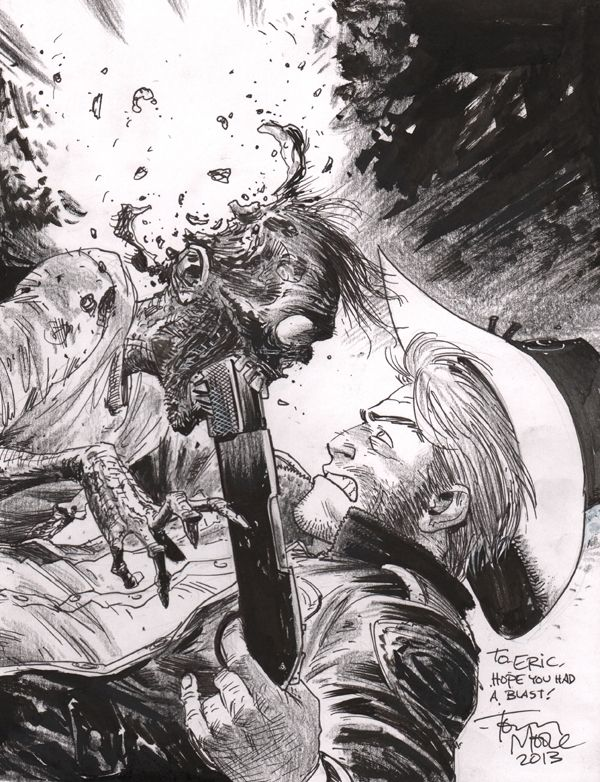 Tony Moore – The Walking Dead Comic Art