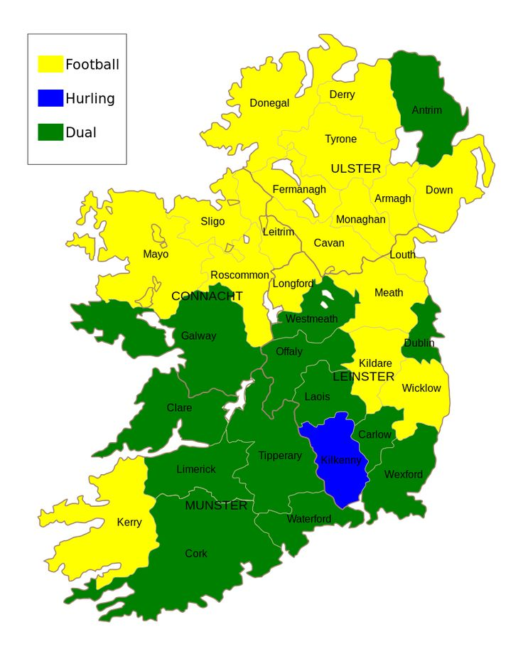 Best GAA AllIreland Final Images On Pinterest Ireland - Irish language map