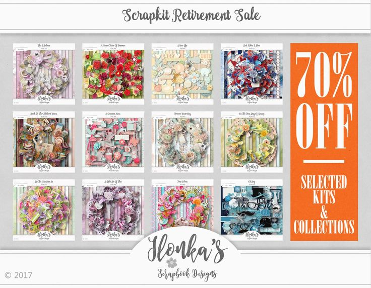 Huge Retirement Sale at Ilonka's Scrapbook Designs! 70% off selected Scrap Kits & Collections! Selected Template Packs for only $1.00, CU vol 1-50 for only $1.00. DigiScrapbooking; http://www.digiscrapbooking.ch/shop/index.php?main_page=index&manufacturers_id=131&zenid=505e549644797992fb6f20f38872706b. 01/22/2017