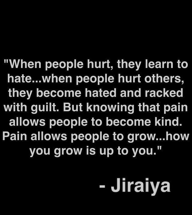 Les paroles de Jiraya - Naruto