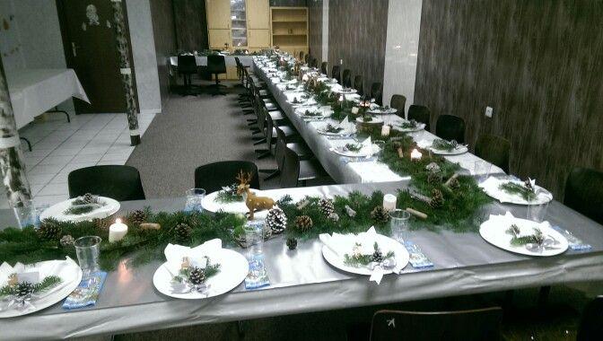 Christmas table set up. Raindeer table ideas.