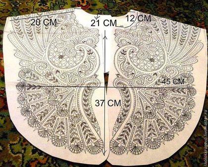 Другие виды рукоделия ручной работы. Ярмарка Мастеров - ручная работа воротник большого размера. Handmade.