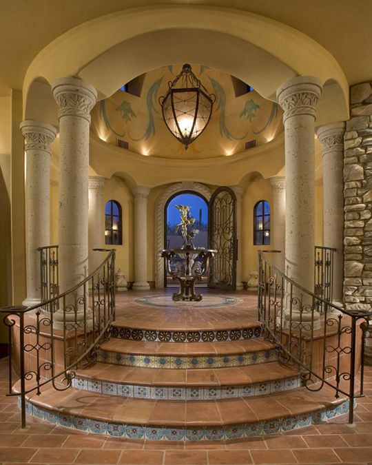 337 best home foyers images on pinterest luxury houses for House plans with foyer entrance