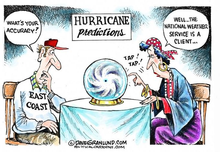Hurricane predictions, Dave Granlund, Politicalcartoons.com