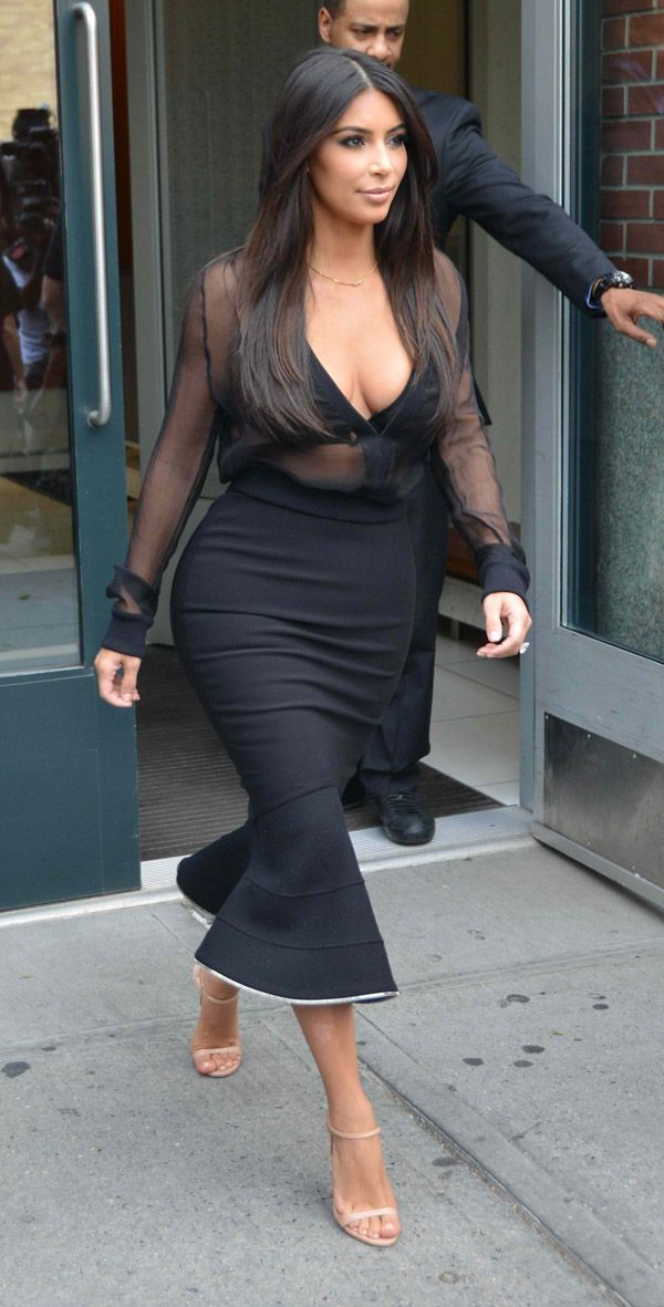 Is Kim Kardashian's Pencil Skirt Style Getting Too Old?NO