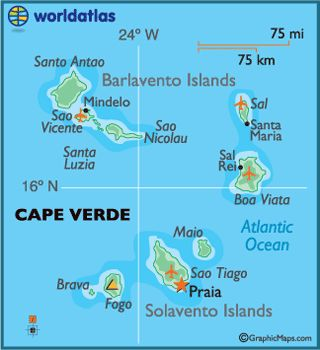 Cape Verde Islands off the north west coast of Africa check our web site www.capeverdeinformation.com