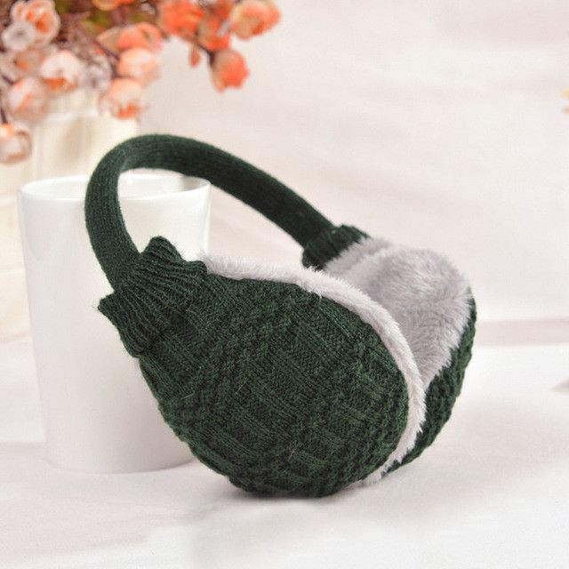New Style Winter Earmuffs For Women Warm Unisex Ear Muffs Winter Ear Cover Knitted Plush Winter Ear Warmers