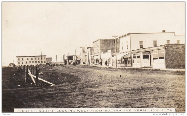 RP: First Street South , Looking West , VERMILION , Alberta , Canada , 1900-10s Item number: 285801663 - Delcampe.com