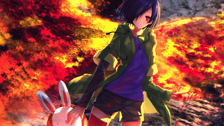 Bunny mask tokyo ghoul and anime girls on pinterest