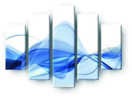 DecoArt24.pl  Pięcioczęściowy obraz na płótnie zatytułowany Modern blue background.  Autorstwa: Neliana Kostadinova Cena 299.00 PLN ---------------- #art #artpainting #painting #abstraction #inspiration #interior #interiordesign #decoart24